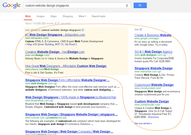 Google Paid Search Example